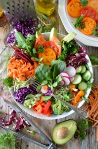 bowl of veg and fruit